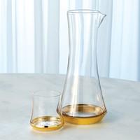 Bell Bottom Glass - Gold