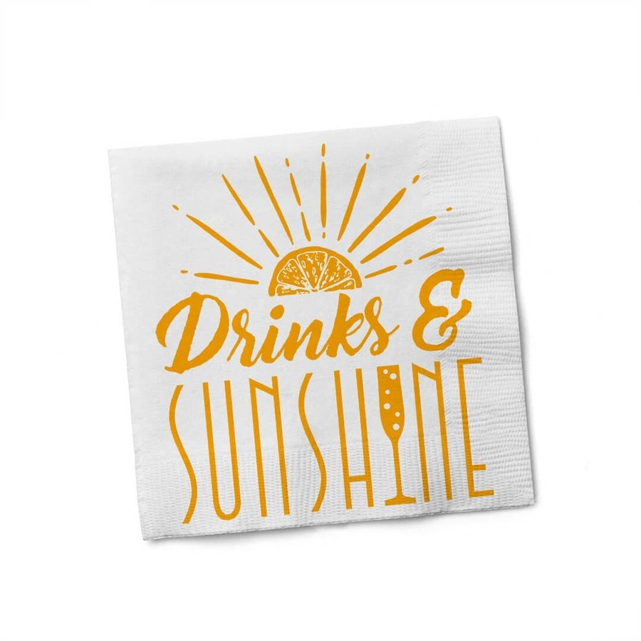 Drinks & Sunshine Cocktail Napkin