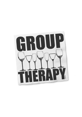 TWISTED WARES Group Therapy Cocktail Napkin