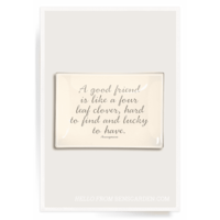 A Good Friend Is Like Decoupage Glass Tray