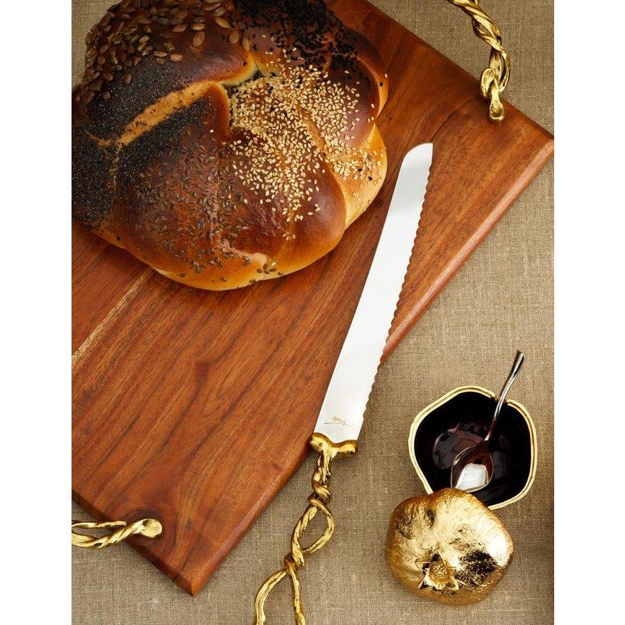 Wisteria Gold Bread Knife