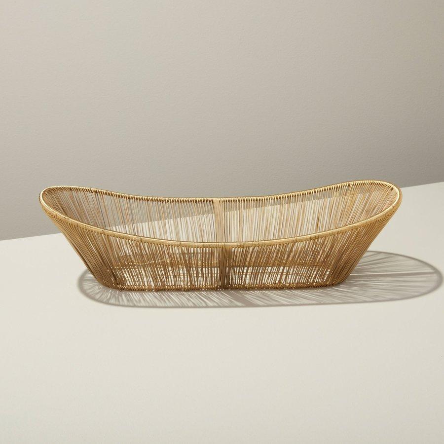 Gold Rhythm Wire Oval Basket