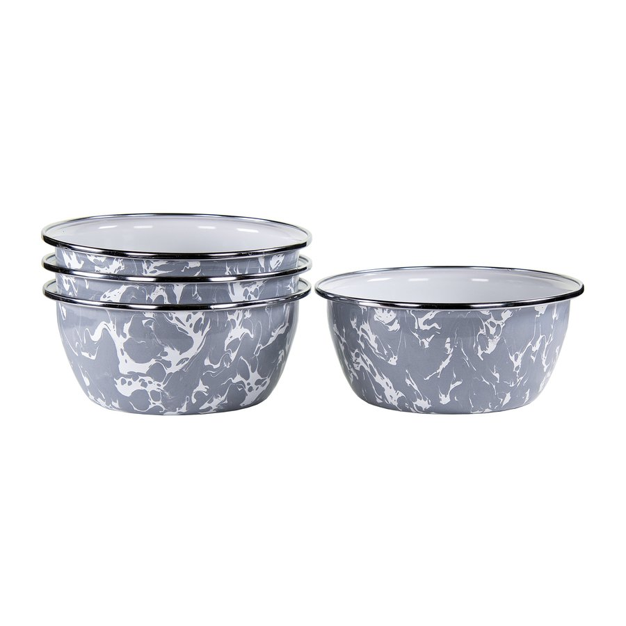 Grey Swirl Salad Bowls