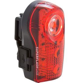 LIGHT REAR SUPERFLASH USB BK