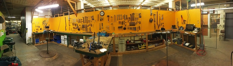 The Brake Room - workshop panoramic