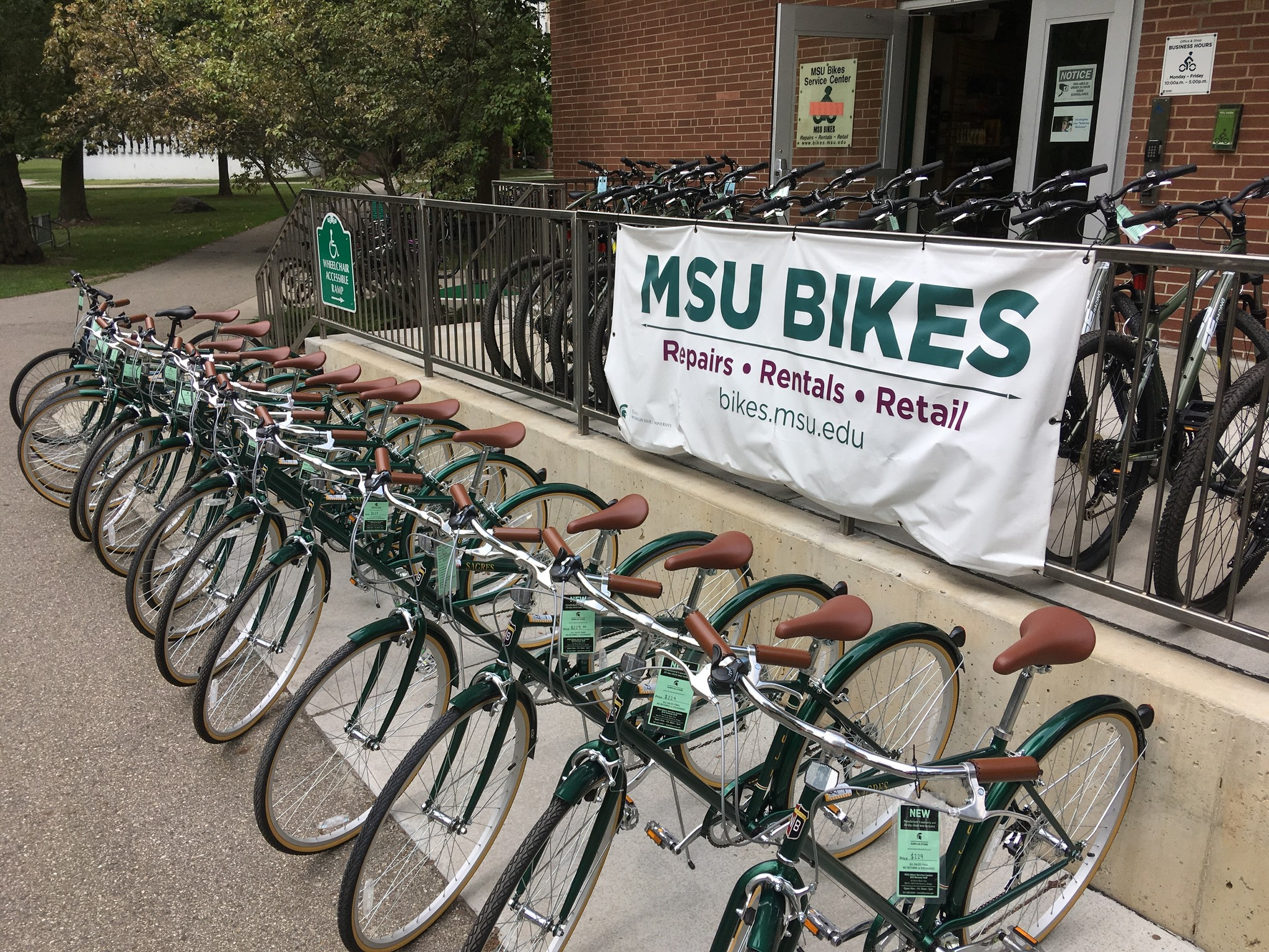 Example rental bikes from MSU Bikes