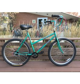 Fuji Blvd-XC City bike, 21 in. teal, low-step