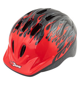 Helmet Flame Red/Black XS/SM, Kidzamo