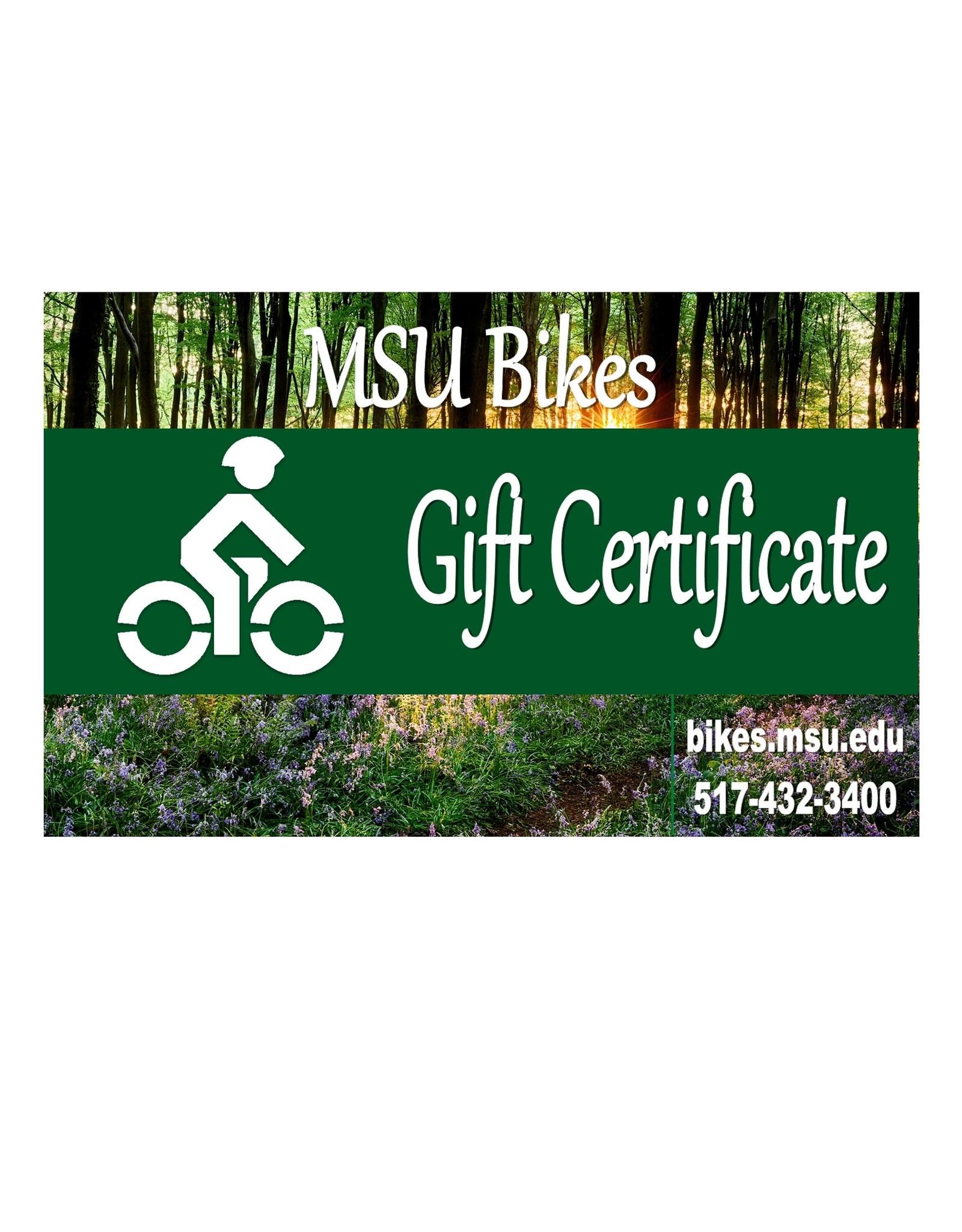 MSU Bikes' Gift Card $100