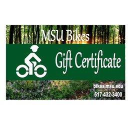 MSU Bikes' Gift Card $10