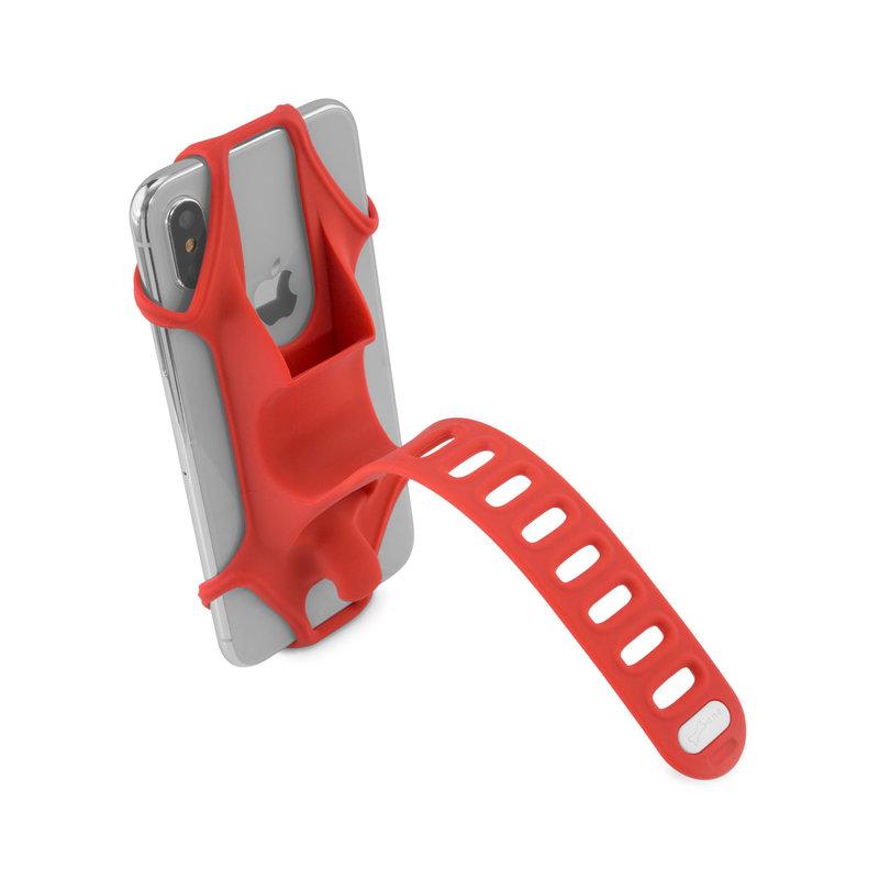 Bone Collection Bike Tie 2 Smartphone Holder H/Bar Mount Red