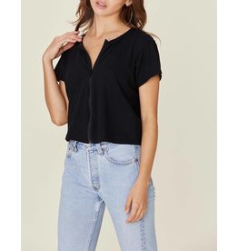 LNA CORT COTTON ZIP TEE