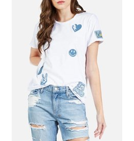 LAUREN MOSHI CROFT LOVE CALI PATCHES TEE