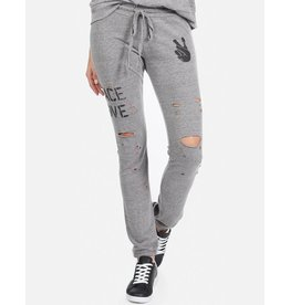 LAUREN MOSHI SPRAY PEACE LOVE SWEAT PANT