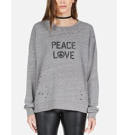 LAUREN MOSHI FLORA SPRAY PEACE HAND SWEAT SHIRT