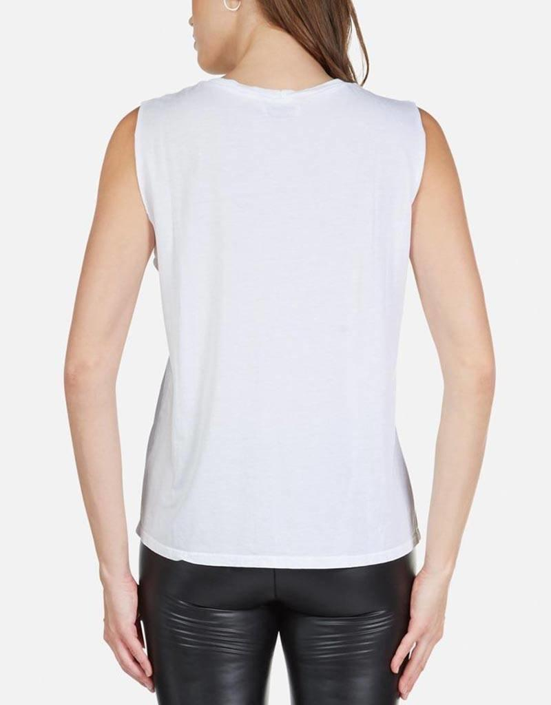 LAUREN MOSHI KEL ROSE GOLD CHAIN LIP SLEEVELESS TOP