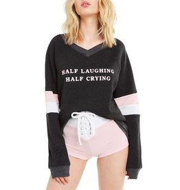 WILDFOX HALF LAUGHING GIDGET BEACH JUMPER