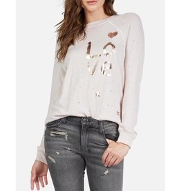 LAUREN MOSHI BARDOT BRUSHED LOVE PULLOVER