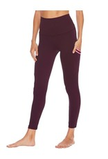 BEACH RIOT RIBBED LAUREL LEGGING MAROON