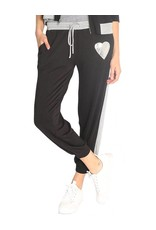 JET-John Eshaya FRENCH TERRY PANT W/FOIL HEART