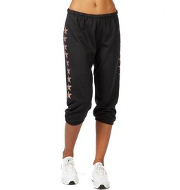 HARD TAIL BASIC PULL ON CAPRI SWEATPANT WITH STARS