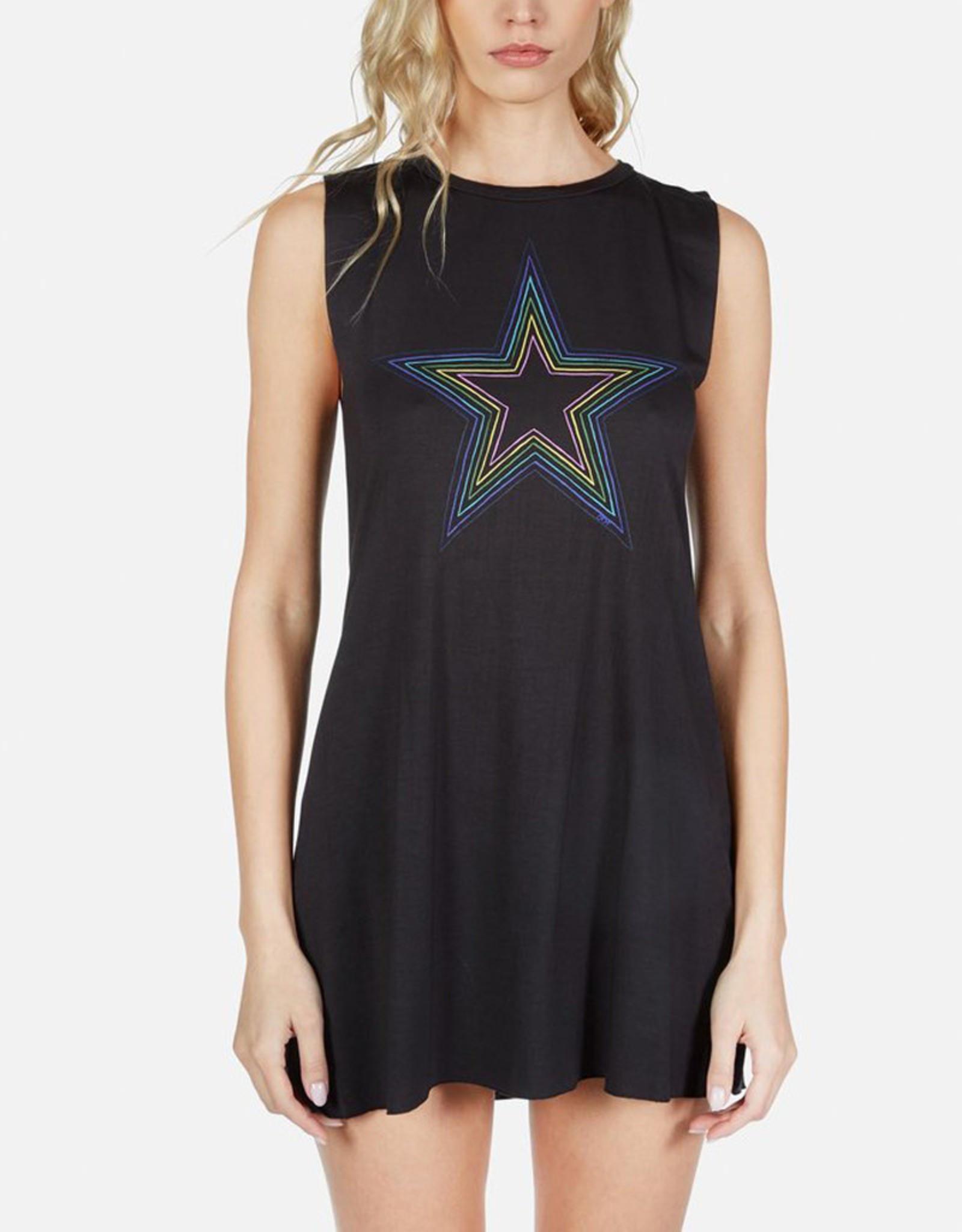 LAUREN MOSHI DEANNA RAINBOW STAR OUTLINE DRESS