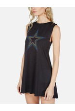 LAUREN MOSHI DEANNA RAINBOW STAR OUTLINE DRESS