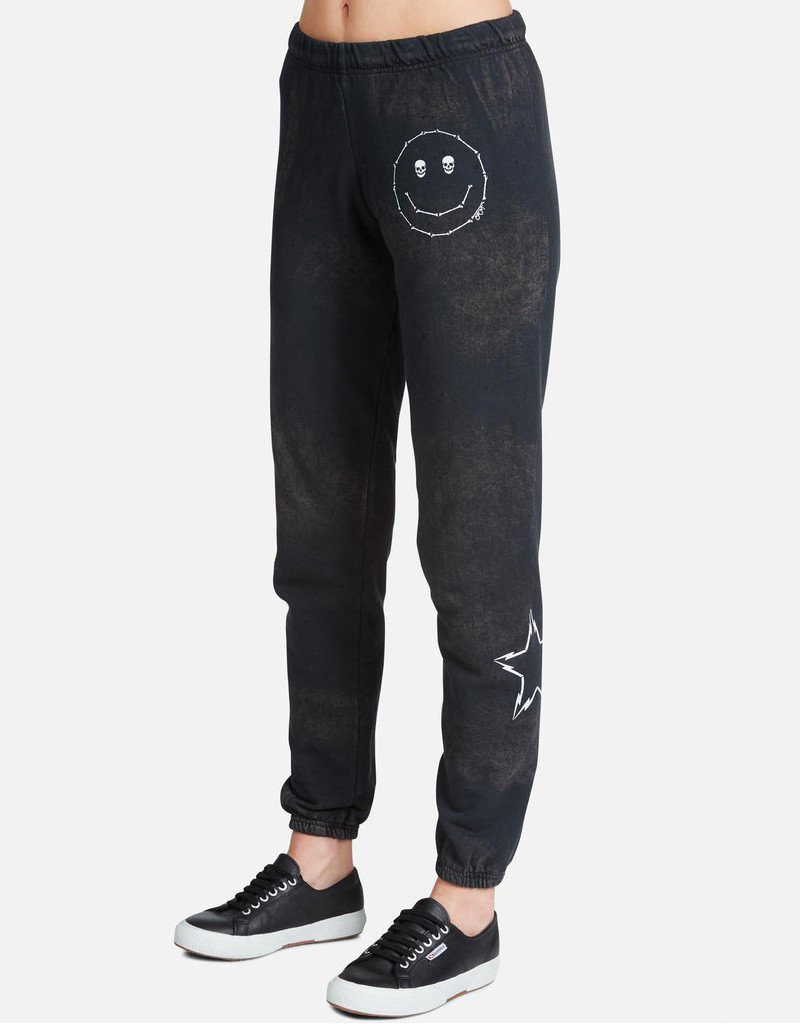 LAUREN MOSHI BRYNN SKULL EYE HAPPYFACE SWEATPANT