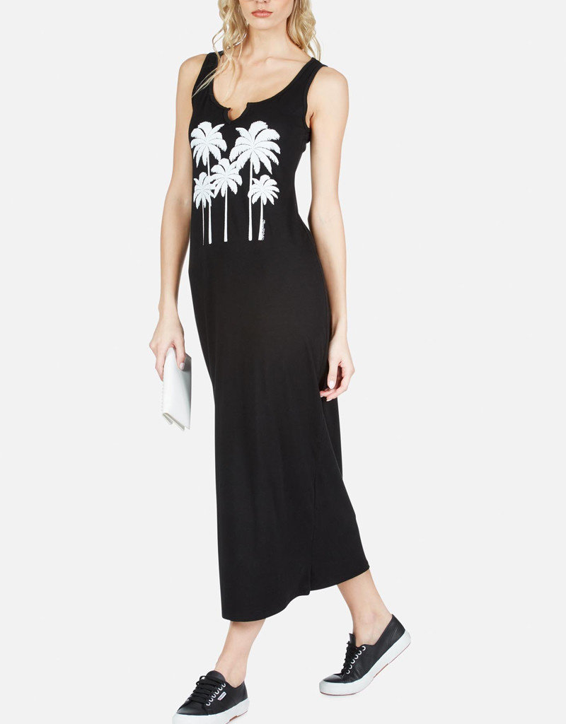 LAUREN MOSHI CAROL PALM TREE MAXI DRESS