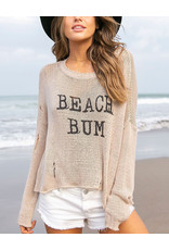 WOODEN SHIPS BEACH BUM CREWNECK COTTON
