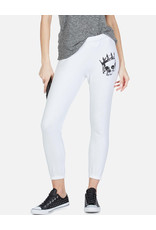 LAUREN MOSHI ROYAL SKULL-ALANA CROP SWEATPANT