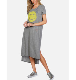 LAUREN MOSHI GENESIS T SHIRT DRESS HAPPY FACE