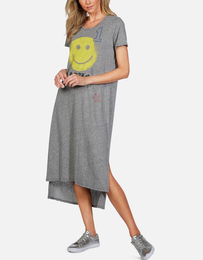 LAUREN MOSHI GENESIS T SHIRT DRESS HAPPY FACE