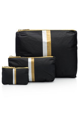 HI LOVE TRAVEL SET OF THREE PACKS - BLACK HLT COLLECTION WITH DOUBLE METALLIC LINES