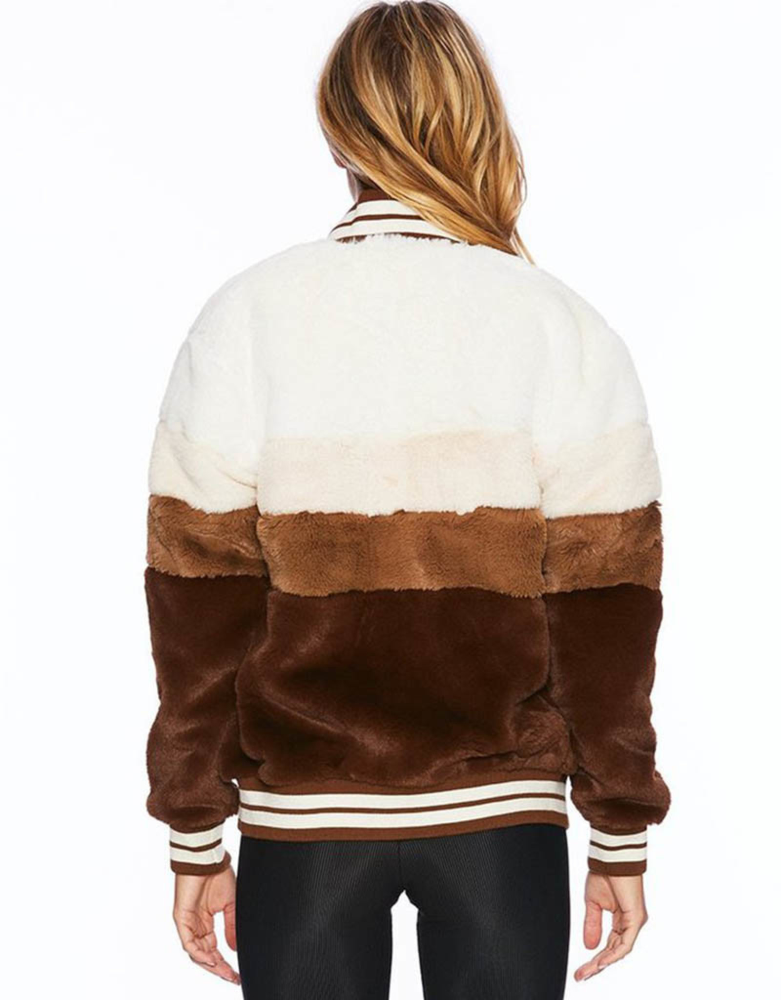 BEACH RIOT BROWN STRIPE JACKET