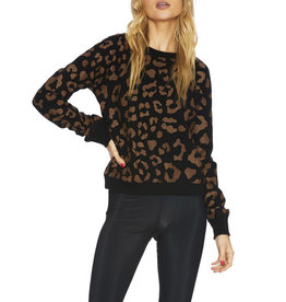 BEACH RIOT REVERSE LEOPARD SWEATER