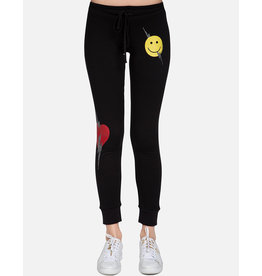LAUREN MOSHI JESS HAPPY LIGHTNING CRYSTAL SWEATPANT