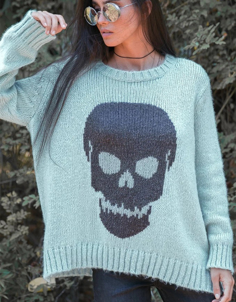 WOODEN SHIPS BIG SKULL CREWNECK