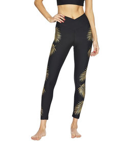 BEACH RIOT GOLD PALM LEGGING