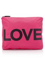 "HI LOVE TRAVEL MEDIUM PACK-PINK PEACOCK WITH ""LOVE"""