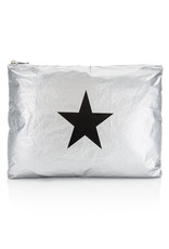 HI LOVE TRAVEL JUMBO PACK-METALLIC SILVER WITH A BLACK STAR