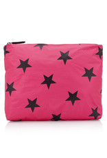 HI LOVE TRAVEL MEDIUM PACK- PINK PEACOCK WITH BLACK STARS
