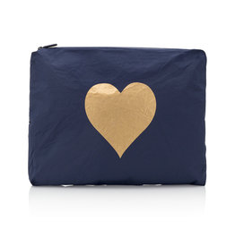 HI LOVE TRAVEL JUMBO PACK-NAVY HLT COLLECTION WITH METALLIC GOLD HEART