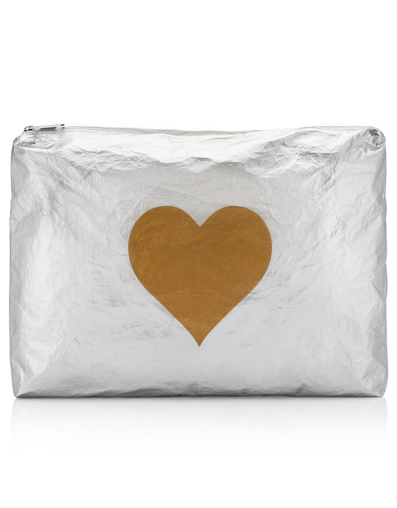 HI LOVE TRAVEL JUMBO PACK-METALLIC SILVER HLT COLLECTION WITH METALLIC GOLD HEART