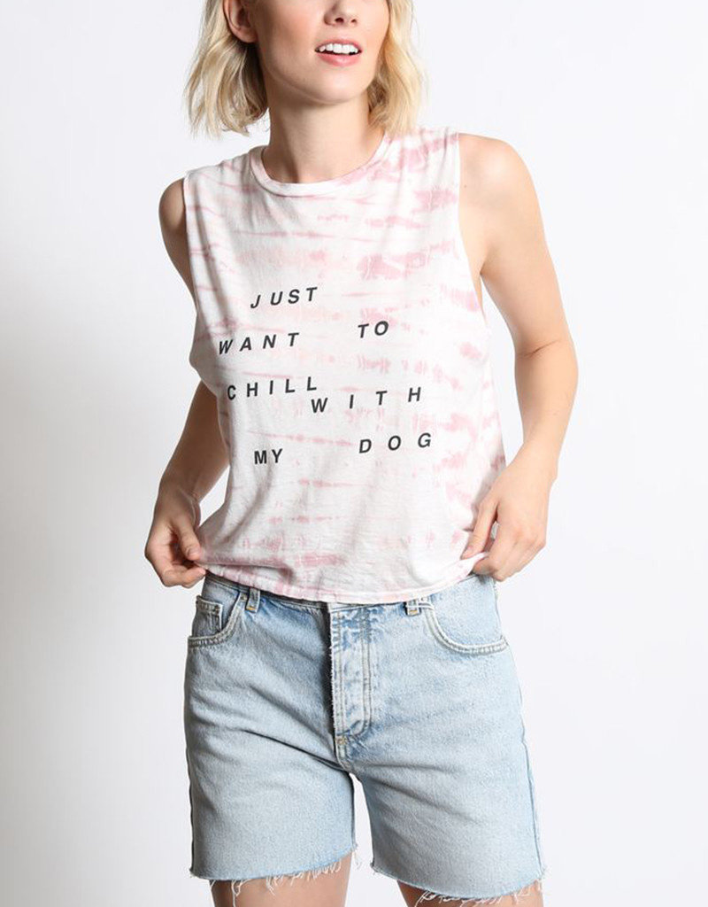 GOOD HYOUMAN I JUST WANNA CHILL WITH MY DOG - THE LILI CROP