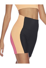 BEACH RIOT COLORBLOCK BIKE SHORT BLACK + CANTALOUPE