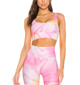 BEACH RIOT RIBBED LEAH TOP SUNRISE TIE DYE