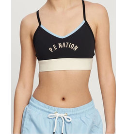 PE NATION REVERSE DRIBBLE SPORTS BRA