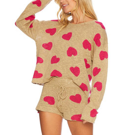 BEACH RIOT BEACH SWEATER TAUPE HEART