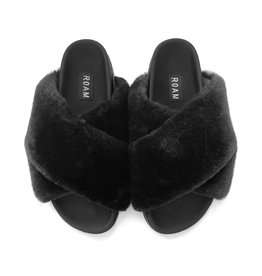 ROAM MINI-CLOUD BLACK SLIPPERS